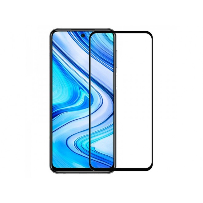 Oem Full Face Tempered glass / Αντιχαρακτικό Γυαλί Πλήρους Οθόνης 3D Για Xiaomi Redmi Note 9 Pro / Redmi Note 9s Μαύρο